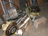 вот что было на судне до установки нового двигателя VETUS